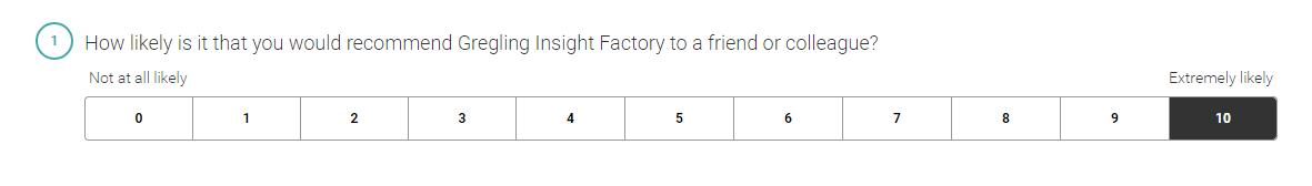 Gregling Insight Factory - Net Promoter Score