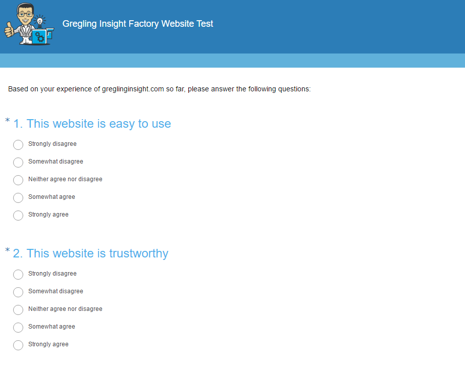 Gregling Insight Factory - website testing