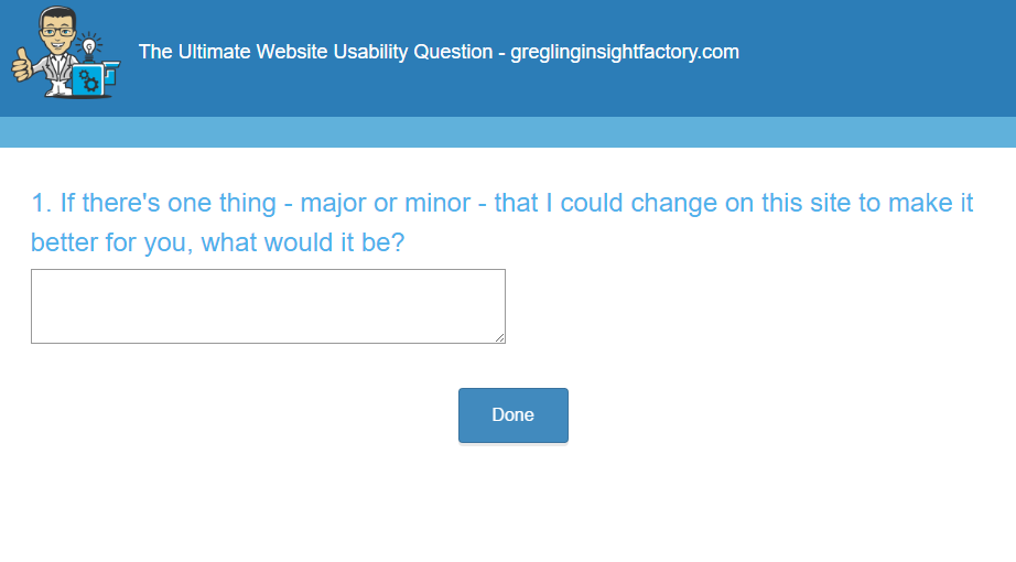 Ultimate website usability question gregling insight factory